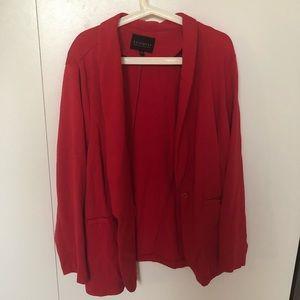 Red blazer single button